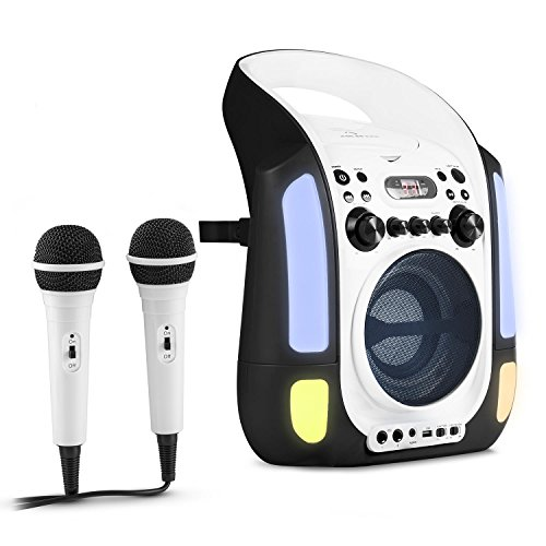 auna kara illumina karaoke anlage für kinder (cd-player, led